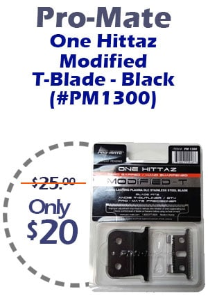 Pro-Mate One Hittaz Modified -T-Blade – Black (PM1300)