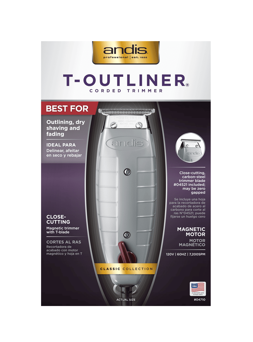 Andis T-Outliner Trimmer, Gray GTO