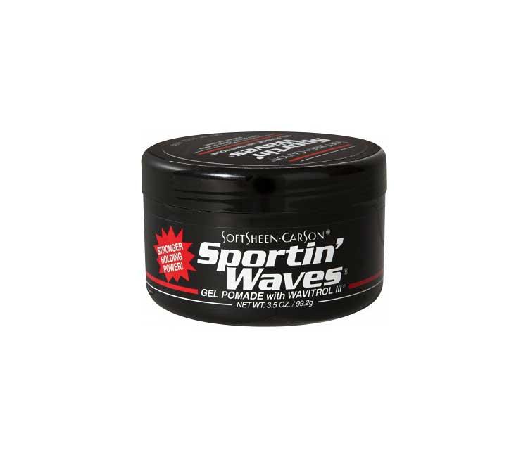 Sportin Waves Maximum Hold Pomade Black 3 5 Oz Barber