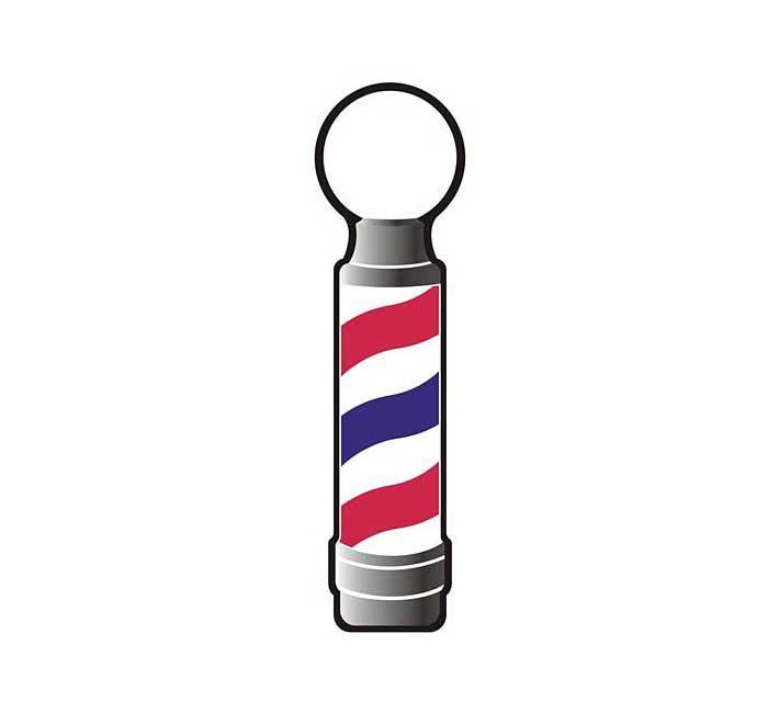 Barber pole decal - Barber supplies, Barber Depot