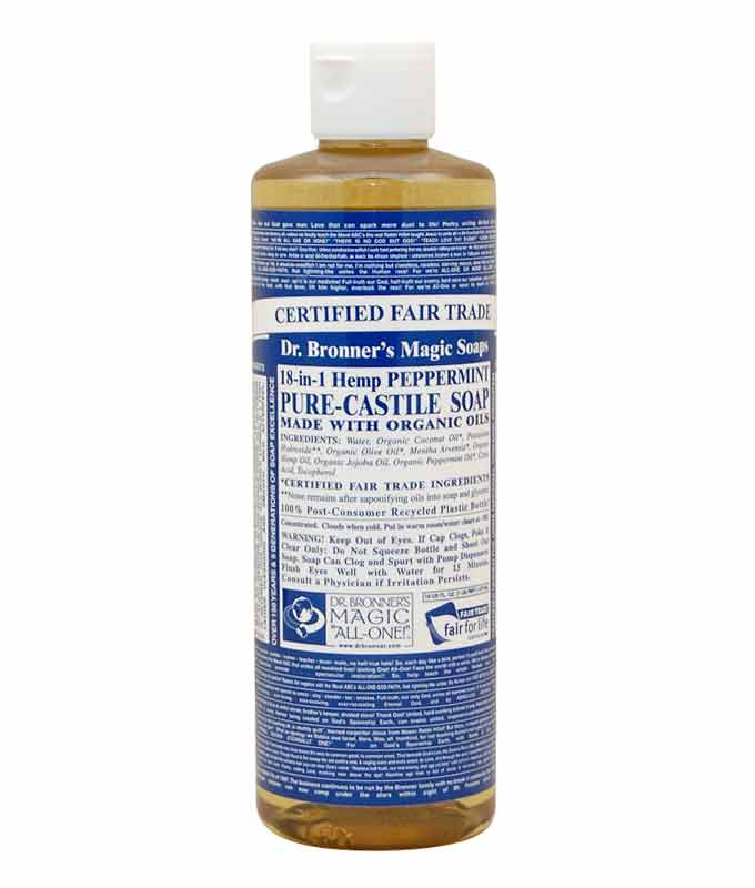 barber supply dr bronner 39 s organic pure castile liquid soap peppermint. Black Bedroom Furniture Sets. Home Design Ideas