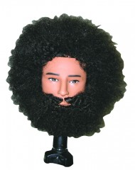 Tyrone Afro Manikin with Beard and Mustache