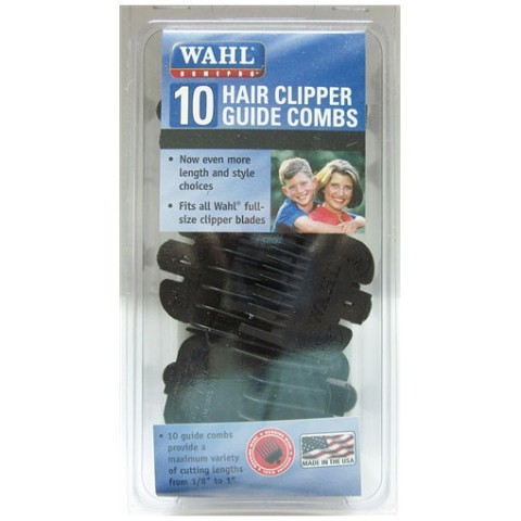 Wahl 10 pcs Guide Combs, Black