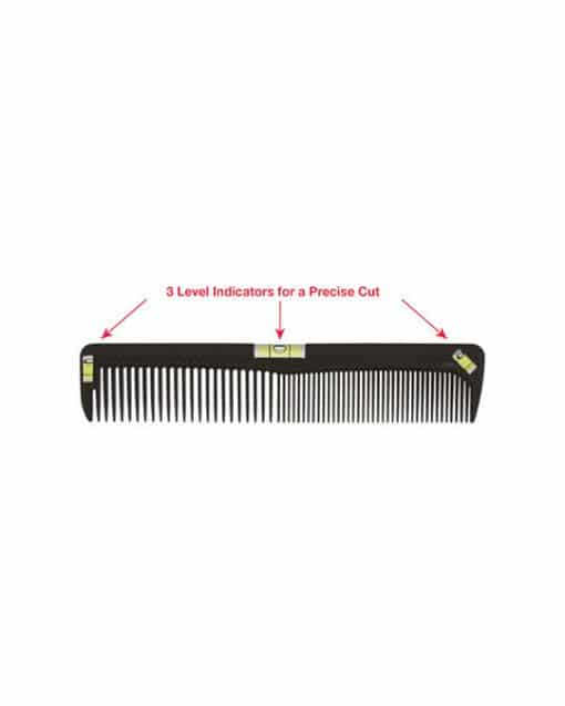 """Scalpmaster 8"""" Cutting Comb with Level"""