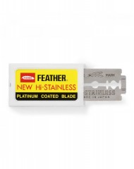 Feather New Hi-Stainless Double Edge Razor Blades (10 Blades)