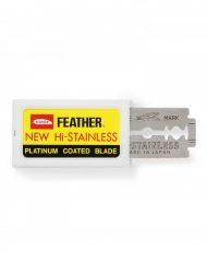 Feather New Hi-Stainless Double Edge Razor Blades (10 Blades)