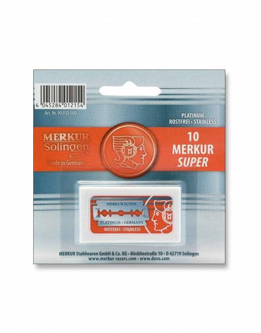 Merkur Super Platinum Double Edge Razor Blades (10 Blades)