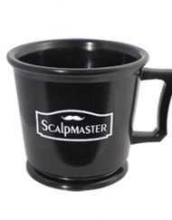 Scalpmaster Rubber Shaving Mug - Black