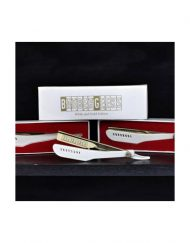 BarberGeeks White & Gold Edition Razor