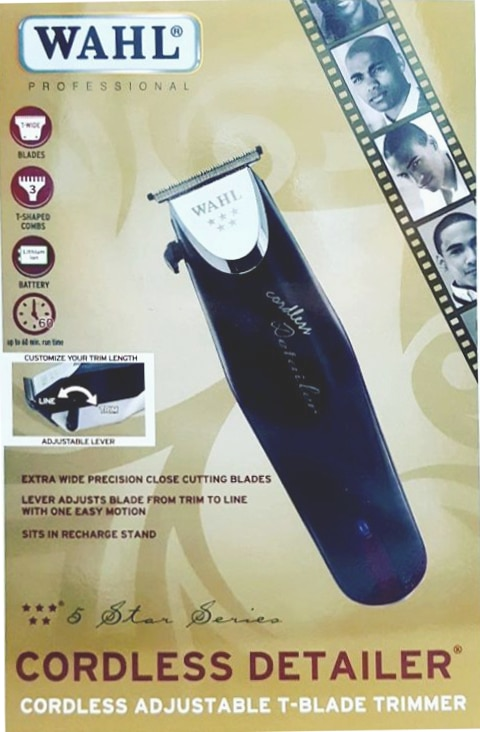 Wahl Cordless Detailer Trimmer #8163 Box 5 Star