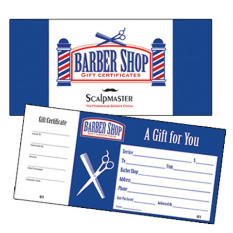 Scalpmaster Barber Shop Gift Certificate (50 Count)