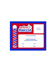 Scalpmaster My First Haircut Certificate, (1 Dozen)