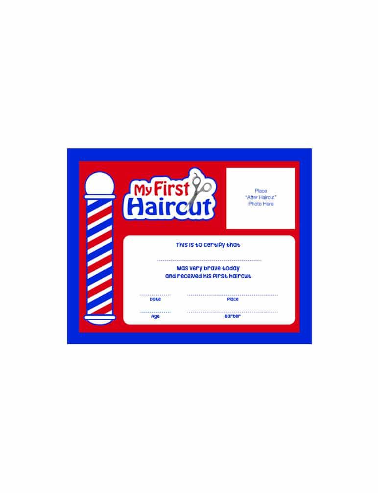 Scalpmaster My First Haircut Certificate, (1 Dozen) - Barber Depot