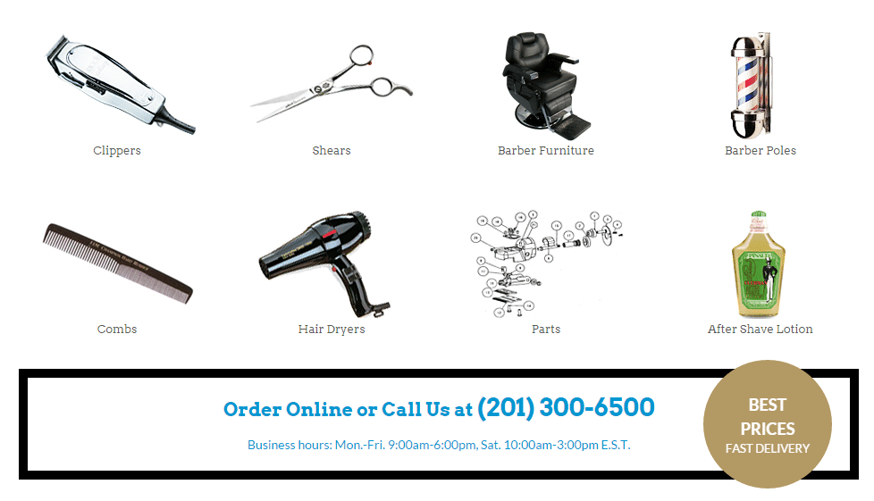 barber supplies online