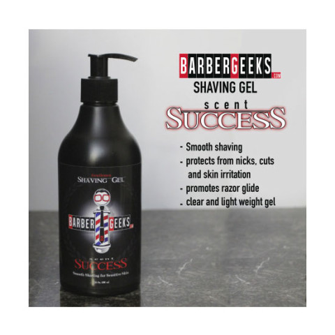 BarberGeeks Shaving Gel 16oz 500ml