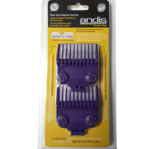 Andis Nano-Silver Magnetic Comb Set (Size 0 & 1)
