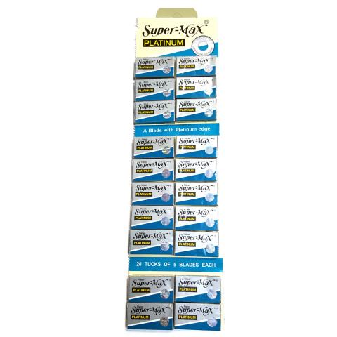 Super Max Platinum Double Edge Razor Blades (100 blades/pk)