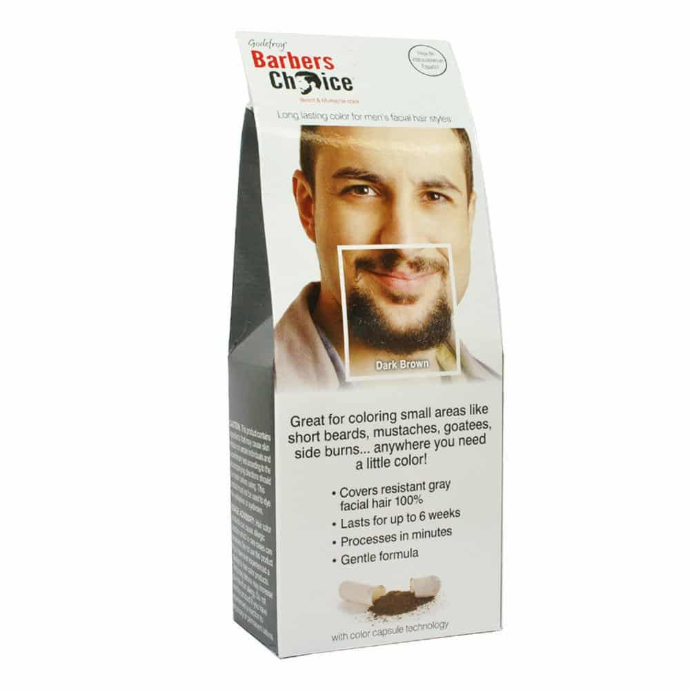 Godefroy Barber Choice Beard and Mustache Color - Dark Brown ...