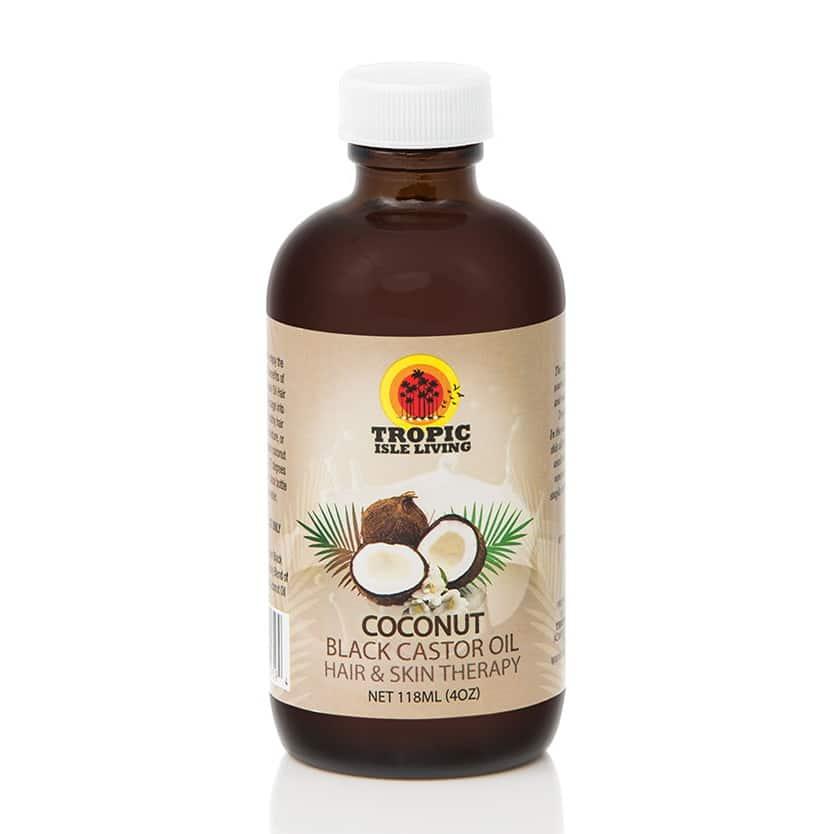 Tropic Isle Living Coconut Black Castor Oil 4oz Barber Depot