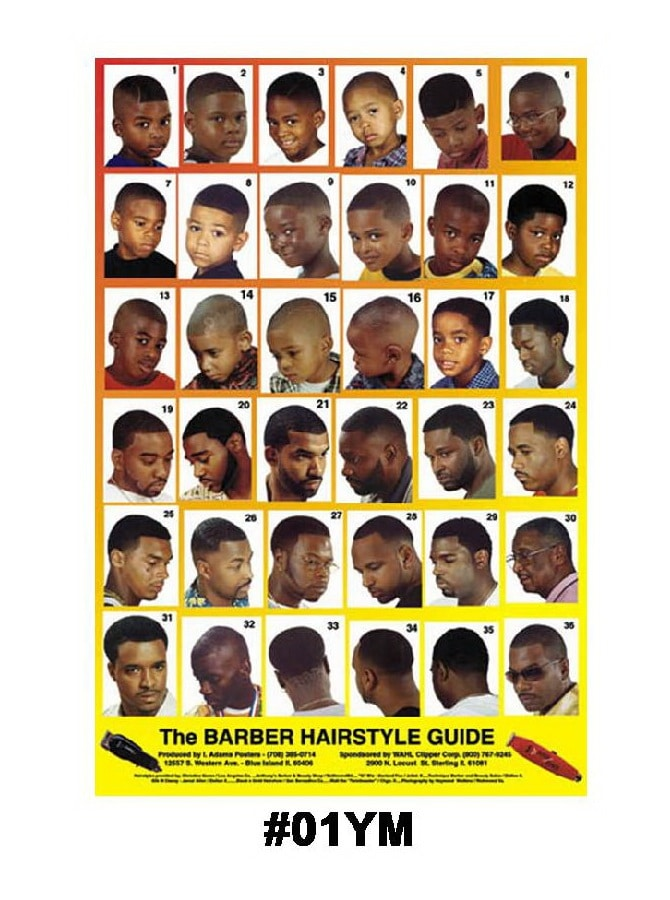 01YM - Mens Hairstyle Guide Poster
