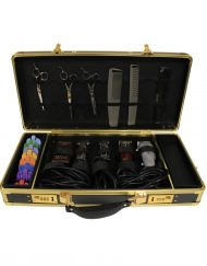 HAIRART BARBER CASE BLACK & GOLD