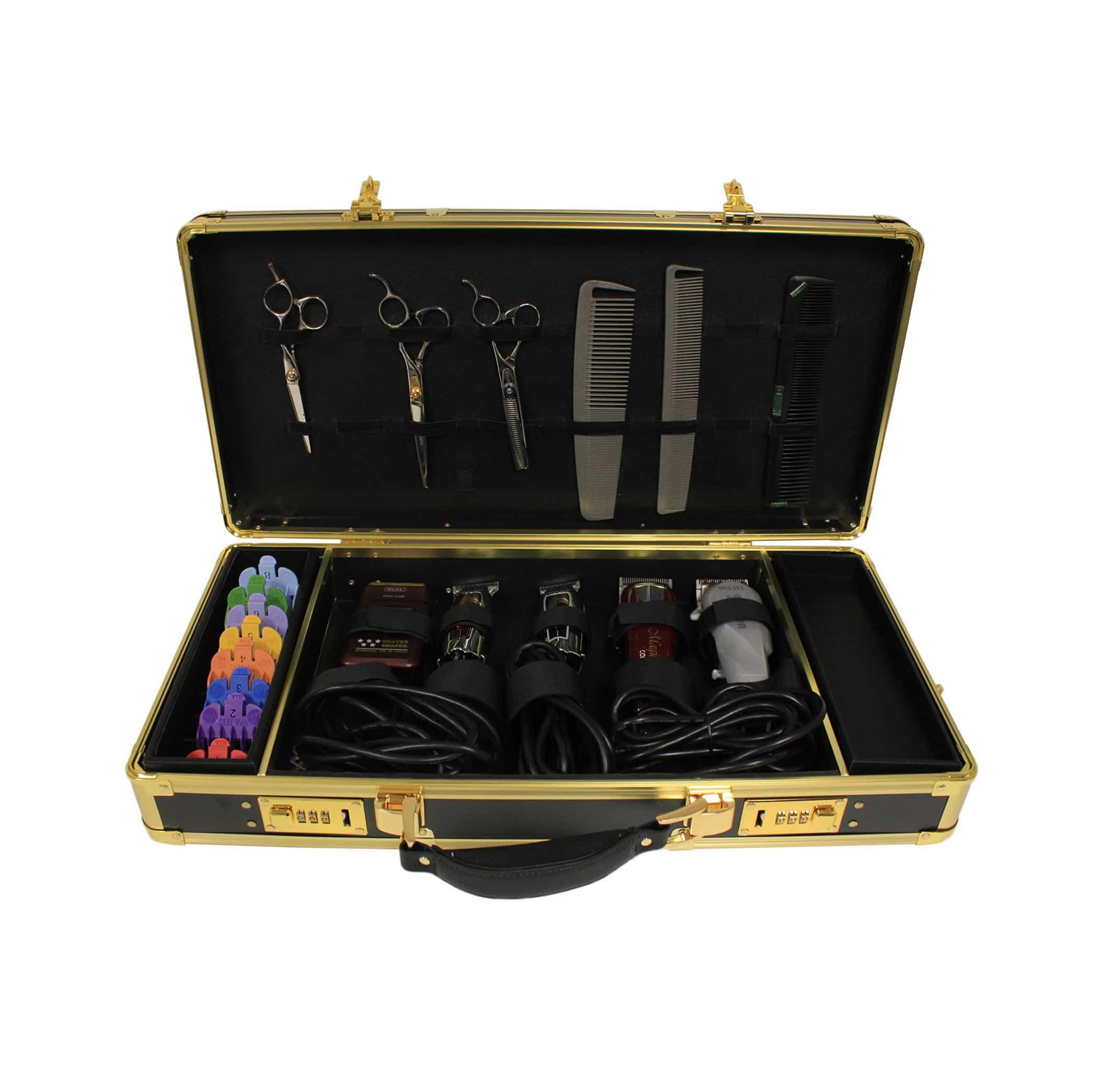 Hairart Barber Case Black Amp Gold Barber Depot